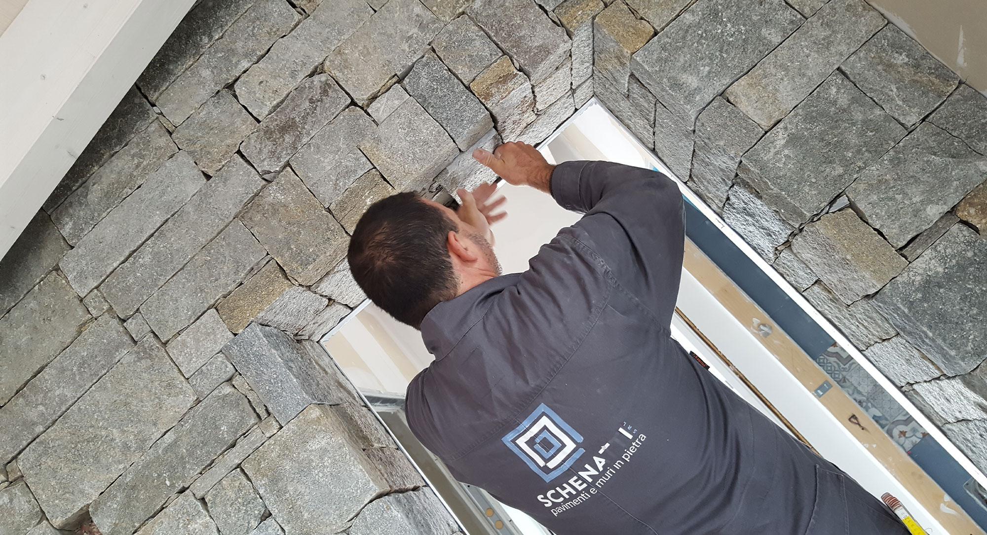 Come Rivestire Un Muro Interno la vera pietra - schenatti srl - real stone covering